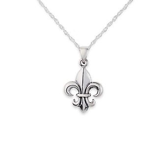 French Royalty Mary Stuart Queen Of Scots Fleur De Lis Lily Shaped Necklace Pendant - Includes A 20