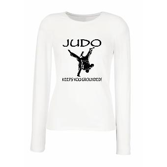 White woman long-sleeved T-shirt wtc1303 judo keeps you grounded