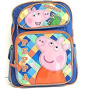 Backpack - Peppa Pig - George & Peppa Blue 16