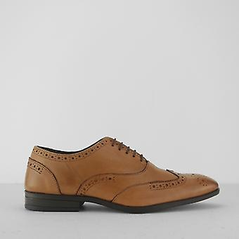 Silver Street London Oxford Mens Leather Wingtip Brogues Tan