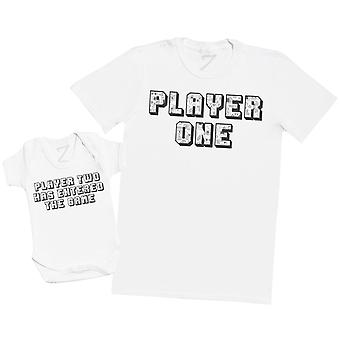 Player One Player Two TEXT - Baby Bodysuit & Mens T-Shirt