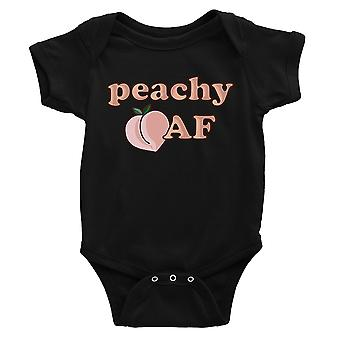 365 Printing Peachy AF Baby Bodysuit Gift Black Infant Jumpsuit Baby Shower Gift