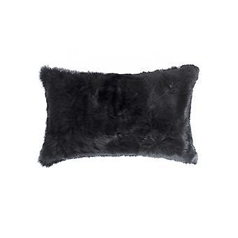 """5 """"x 12"""" x 20 """"100% luonnollinen kani turkis musta tyyny"""