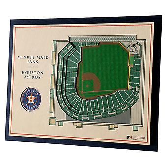 YouTheFan Wood Wall Decoration Stadium Houston Astros 43x33cm