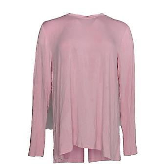 H di Halston Women's Top Essentials Long SleeveS Pink A304524