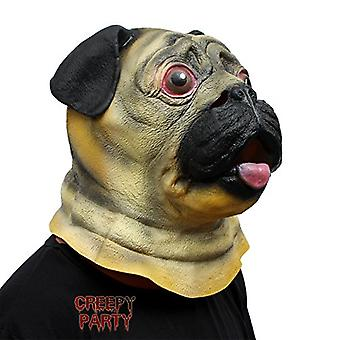 CreepyParty Halloween Party Dog mask Super Bowl Underdog, Yellow, Size One Size