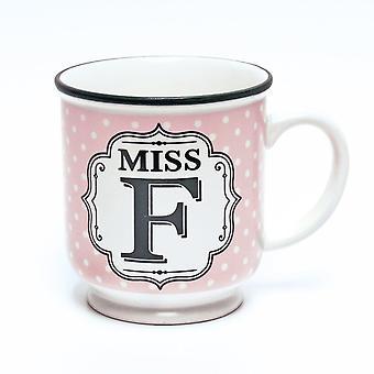 History & Heraldry Alphabet Mug - Miss F