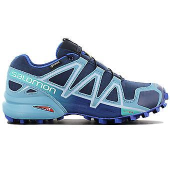 Salomon Speedcross 4 GTX W 383082 Damen Schuhe Blau Sneaker Sportschuhe