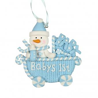 Widdop Gifts Baby's 1st Christmas Tree Boys Decoration