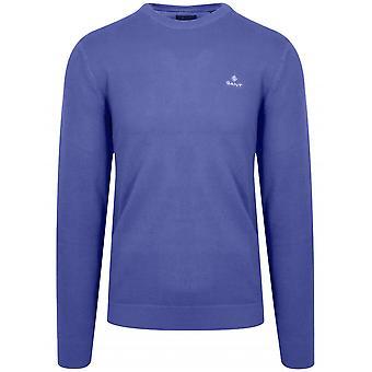 GANT GANT Royal Blue Honeycomb Sweatshirt