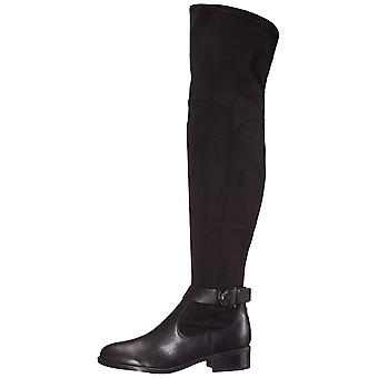 Nine West Womens Nacoby2 Leather Closed Toe Over Knee Riding Boots