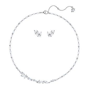 Swarovski Louison Rhodium Plated & Crystal Necklace & Earrings Set 5435164