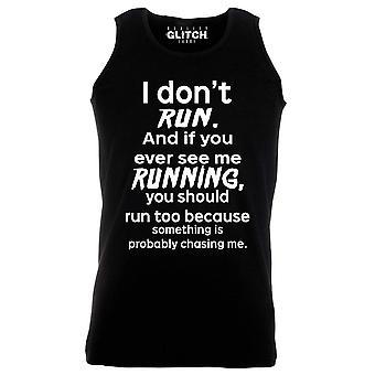 Reality glitch i don't run mens vest