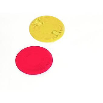 Karlie Flamingo latex Frisbee PeeWee, 13 cm 2 yksikköä, punainen/keltainen