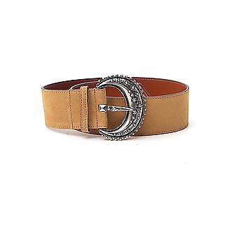 Etro 1n17224120800 Women's Brown Suede Belt