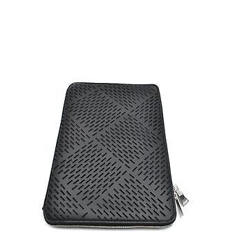Bottega Veneta Ezbc439004 Men's Black Leather Document Holder