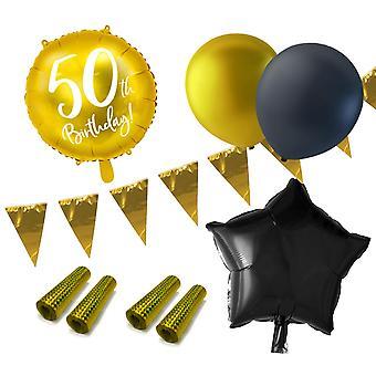 Kit di compleanno 50 anni Pacchetto Party 50 anni