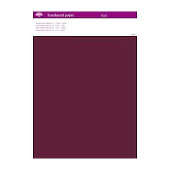 Pergamano Translucent Paper Winered A4 150 gsm 5 Sheets (63011)