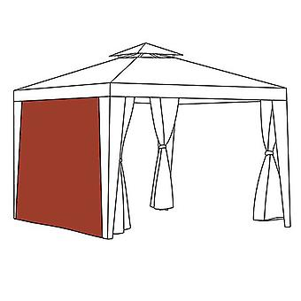 Terracotta Curtain Side Panel Gazebo Outdoor Privacy Universal Fit 1.9m x 2.6m