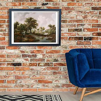 Hobbema Meindert - A Wooded Landscape Poster Print Giclee