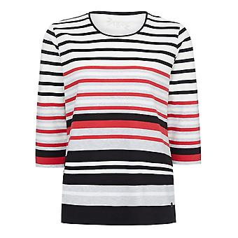 TIGI Striped Round Neck Top