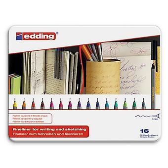 edding-55 ass. fineliner 16PC 0,3 mm / 4-55-16
