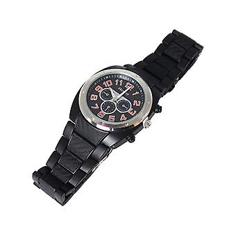Henley Gents Analogue Chrono Effect Black Plastic Sports Strap Watch H03009.8