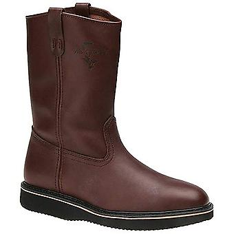 Fin & Feather Mens Wellington Leather Closed Toe Mid-Calf Western Boots