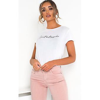 IKRUSH Womens Bekah slogan stretch T-shirt