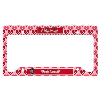 Carolines Schätze LH9133LPF Dackel Valentine's Liebe und Herzen Lizenz Pla
