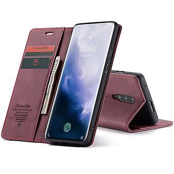 Caseme Retro Bookcase Hoesje OnePlus 7 Pro - Zwart