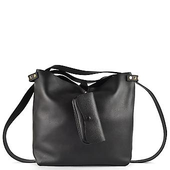 Ash OLLY Large Tote Bag Black Leather & Studs