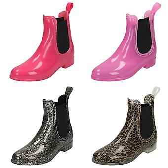 Spot On Girls Ankle Wellington Boots
