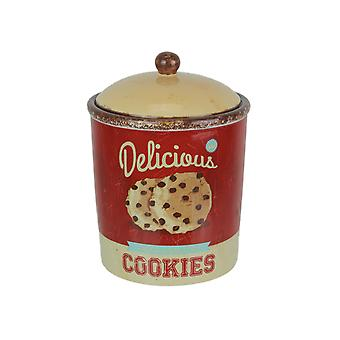Antiqued Finish Ceramic Cookie Jar Food Safe Sealed Lid