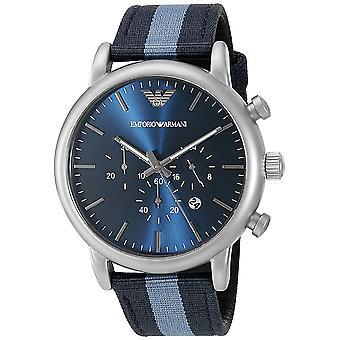 Armani Men's Luigi Blaues Zifferblatt Uhr - AR1949