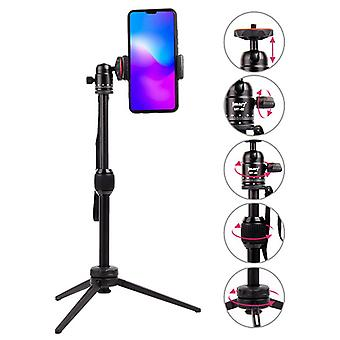 Mt-68 portable mini foldable tripod self-timer live broadcasting landing bracket for mobile phone camera
