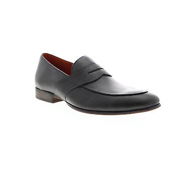 Zanzara Muse Penny Slot  Mens Gray Leather Dress Loafers Shoes
