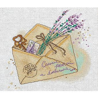 Panna Cross Stitch Kit : Lavender Letter