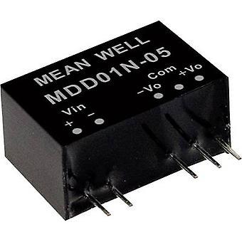 Keskimääräinen no MDD01M-09 DC/DC-muunnin (moduuli) 56 mA 1 W Ei. lähtöjen määrä: 2 x