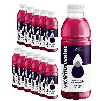 Glaceau Vitamin Water Pomegranate Accai Blueberry Sugar Free - 12 x 500 ml
