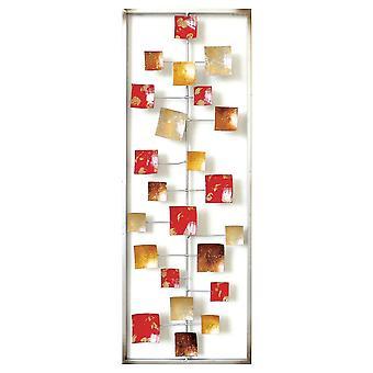 Decorazione Da Parete Holly Color Multicolore in Metallo 28,6x3,2x74,3 cm