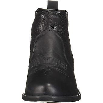 Easy Street Women's Legend Ankle Boot Black Embossed, 6 M US