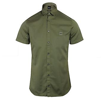 Hugo boss magneton_1-short men's khaki shirt