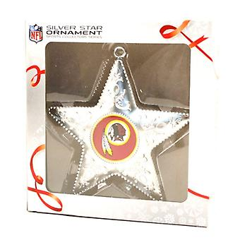 Washington Redskins NFL Sports Collectors Series Silver Star Ornament