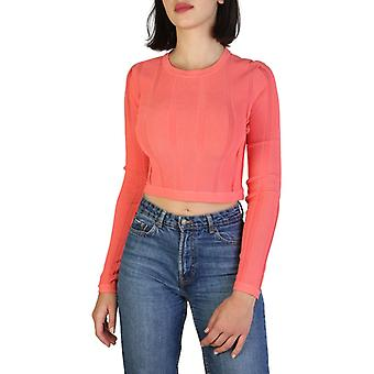 Woman long round neckline sweater aj92983