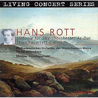H. Rott - Hans Rott: Sinfonie F R Streichorcester som-Dur; STREICHQUARTETT C-Moll [CD] USA importerer
