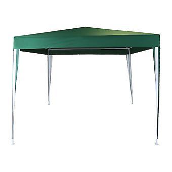 Charles Bentley 3x3m Polyester Gazebo Grün/Streifen duschfest Ideal für Outdoor-Events