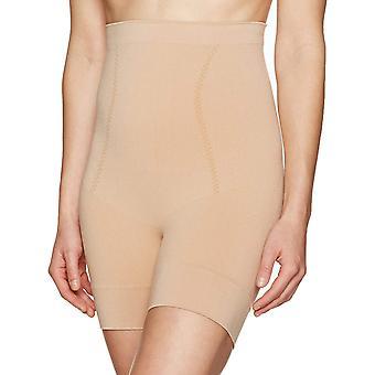 Arabella Women's Seamless Waist Shaping Thigh Control Shapewear, Nude, Large