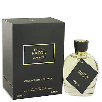 Eau De Patou Eau De Toilette Spray (Heritage Collection Unisex) By Jean Patou 3.3 oz Eau De Toilette Spray