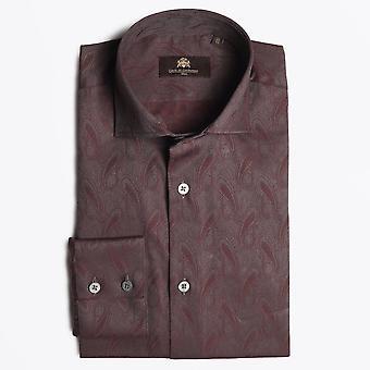 Circle Of Gentlemen - Kane Paisley Shirt - Bordeaux